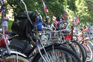 With so many different people and cultures represented, Bronxites proudly display their heritage.  Puerto Ricans with brightly painted bikes, playing salsa down the streets are just one example of the expression of Bronx Pride.