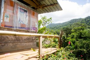 View from the school that the government establishes for the Embera people