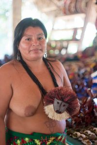 The Embera survive through tourism and arts and crafts.